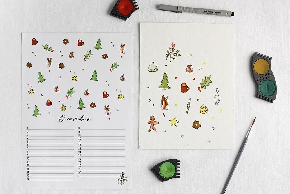 Wandkalender Weihnachtsmotiv | we love handmade