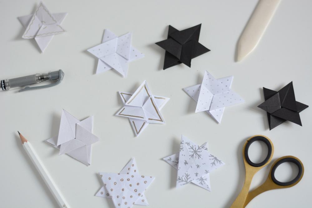 Geschenkidee: Papiersterne - Botschaften | we love handmade