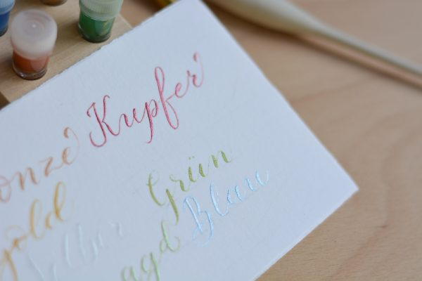 Kalligraphie: Pigmente-Tinte | we love handmade