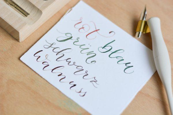 Schreibtinten Ansicht | we love handmade