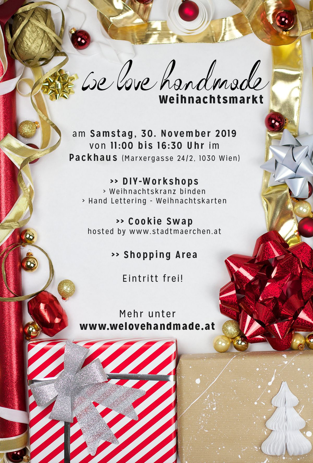 Weihnachtsmarkt Flyer | we love handmade