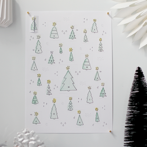 DIY: Adventskalender zum Ausdrucken | we love handmade