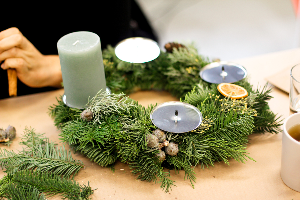 Adventkranz binden | we love handmade