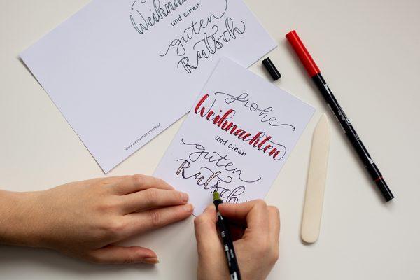 DIY: Weihnachtskarten Freebie | we love handmade