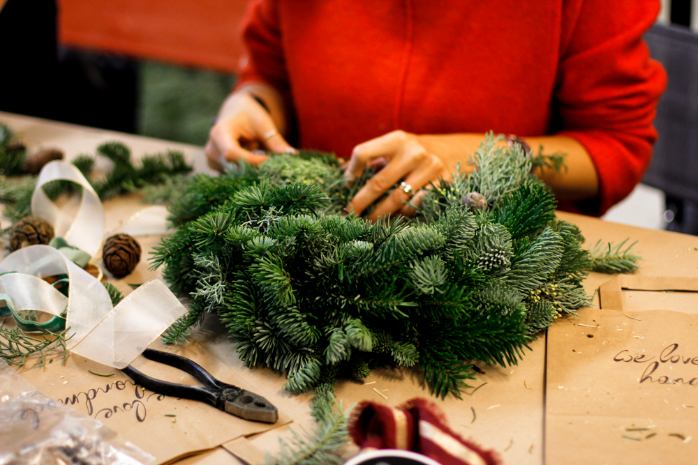 DIY-Workshop: Weihnachtskranz | we love handmade