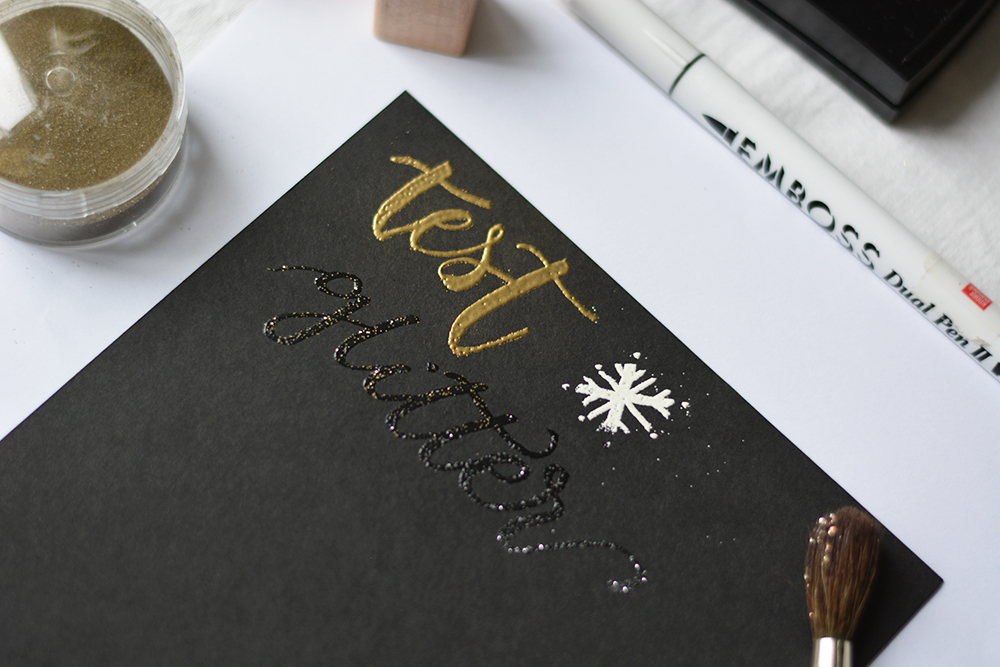 Embossing-Test | we love handmade