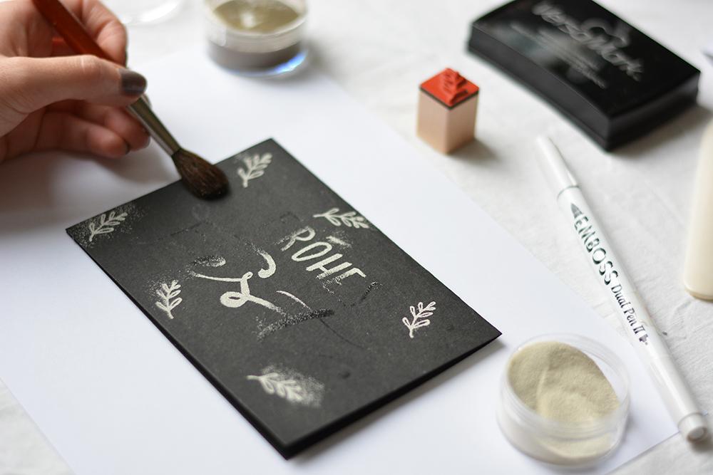 Embossing: Weihnachtskarten gestalten | we love handmade