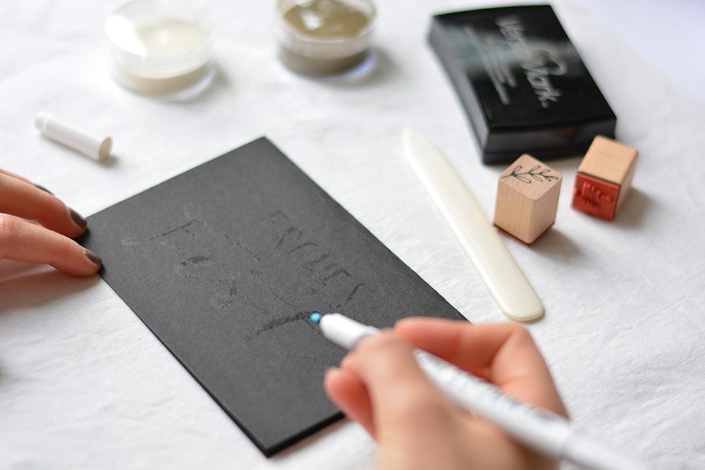 Lettering-DIY: Embossing | we love handmade