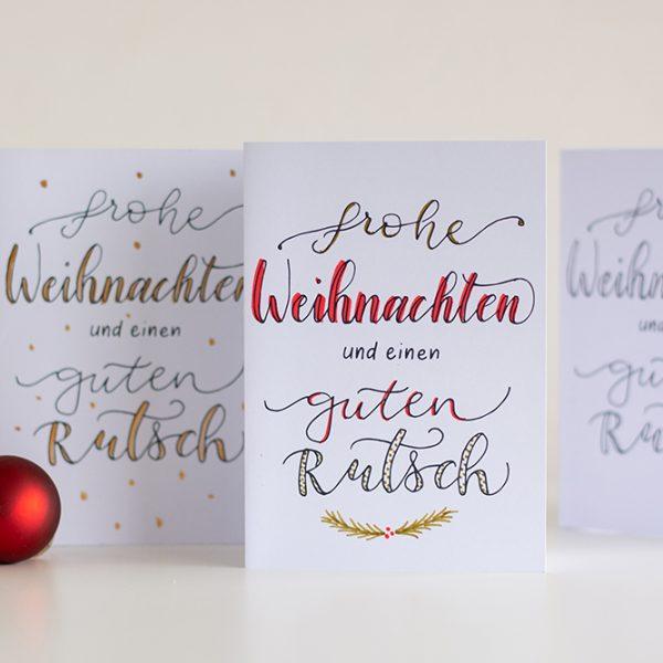 Lettering-DIY: Weihnachtskarten Freebie | we love handmade