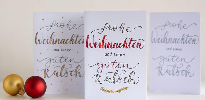 Freebie: Weihnachtskarte zum Individualisieren