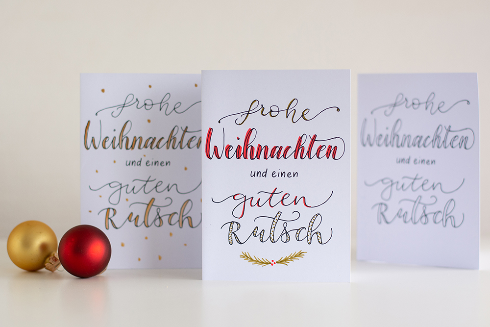 Lettering-DIY: Weihnachtskarten Freebie | we love handmade