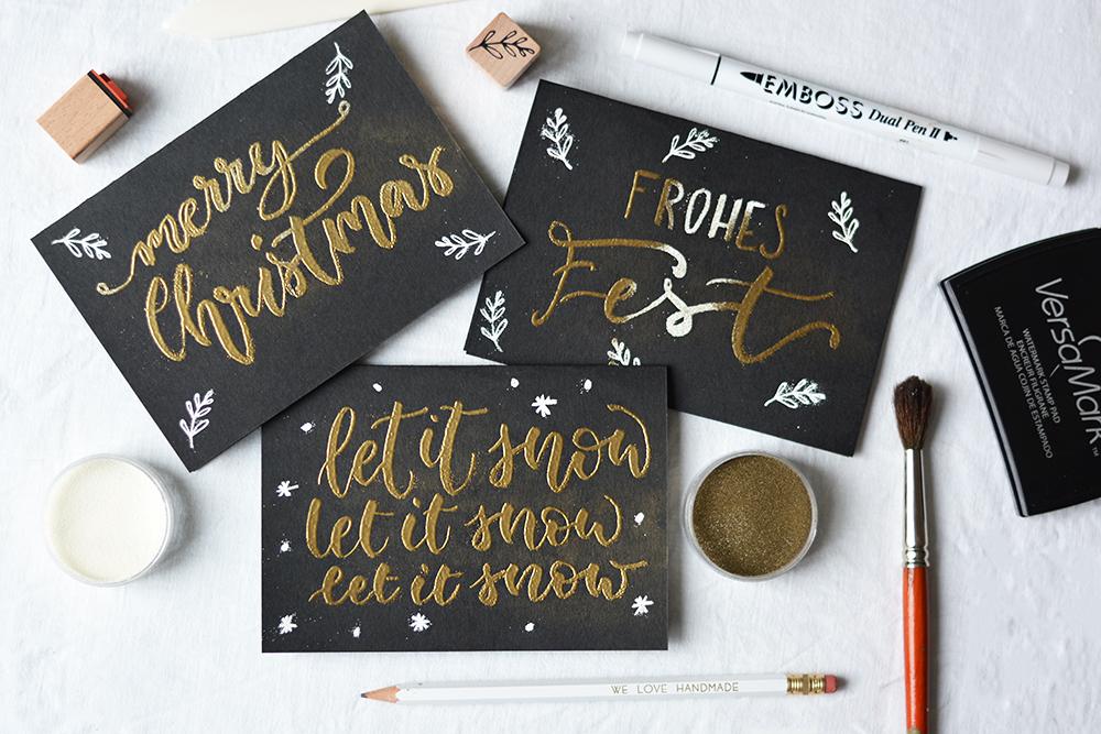 Weihnachtskarten-DIY | we love handmade