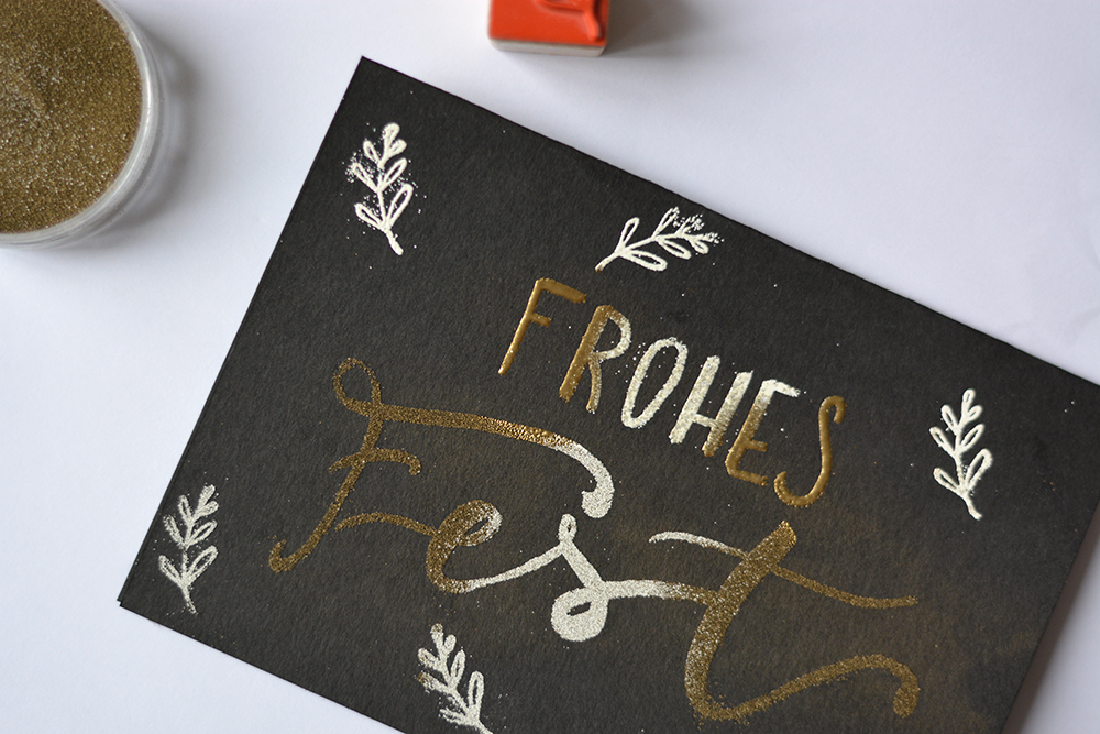Weihnachtskarten: Embossing | we love handmade
