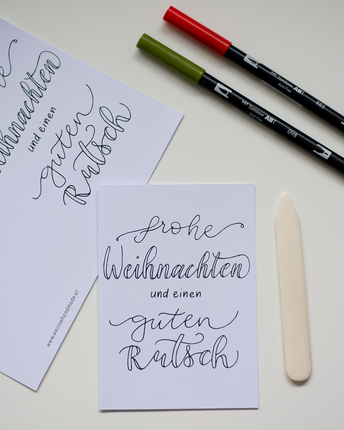 Weihnachtskarten: Freebie zum Download | we love handmade