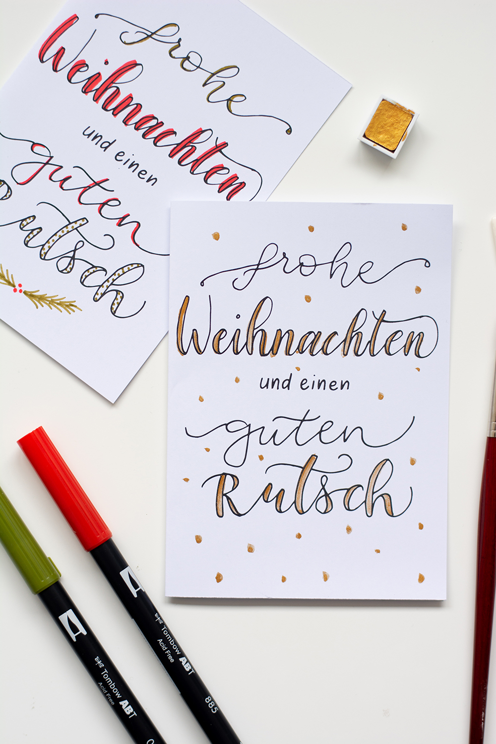 Weihnachtskarten-Freebie | we love handmade