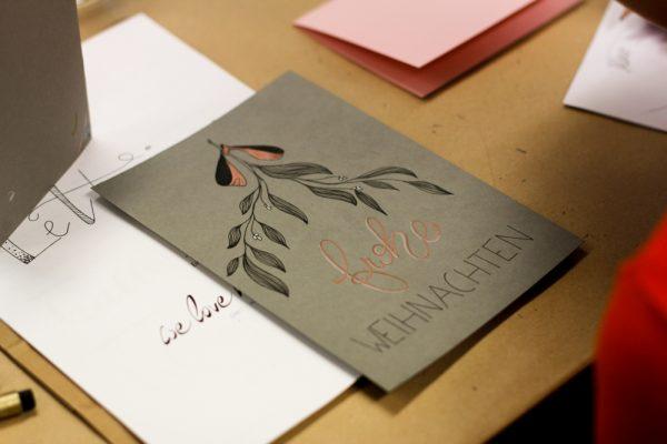 Weihnachtskarten: Hand Lettering Workshop   we love handmade