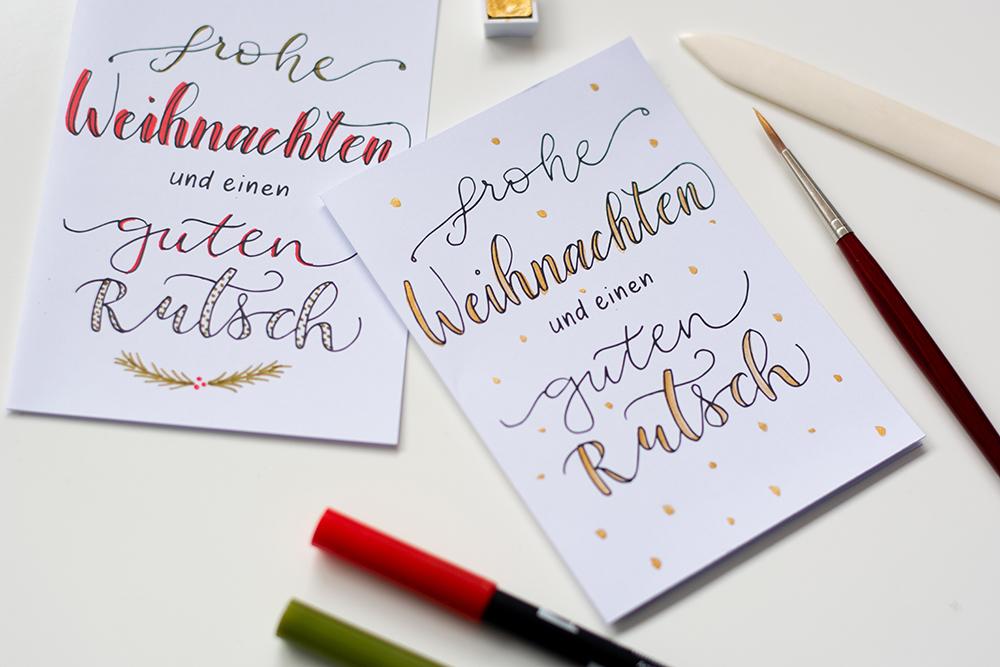 Weihnachtskarten: Hand Lettering | we love handmade