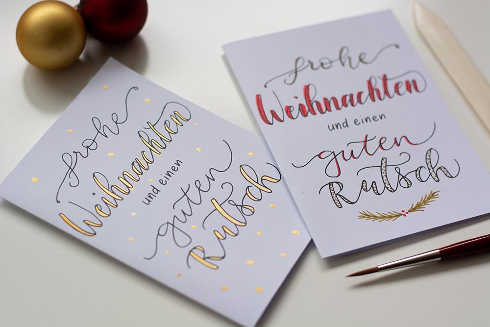 Weihnachtskarten gestalten: Freebie | we love handmade