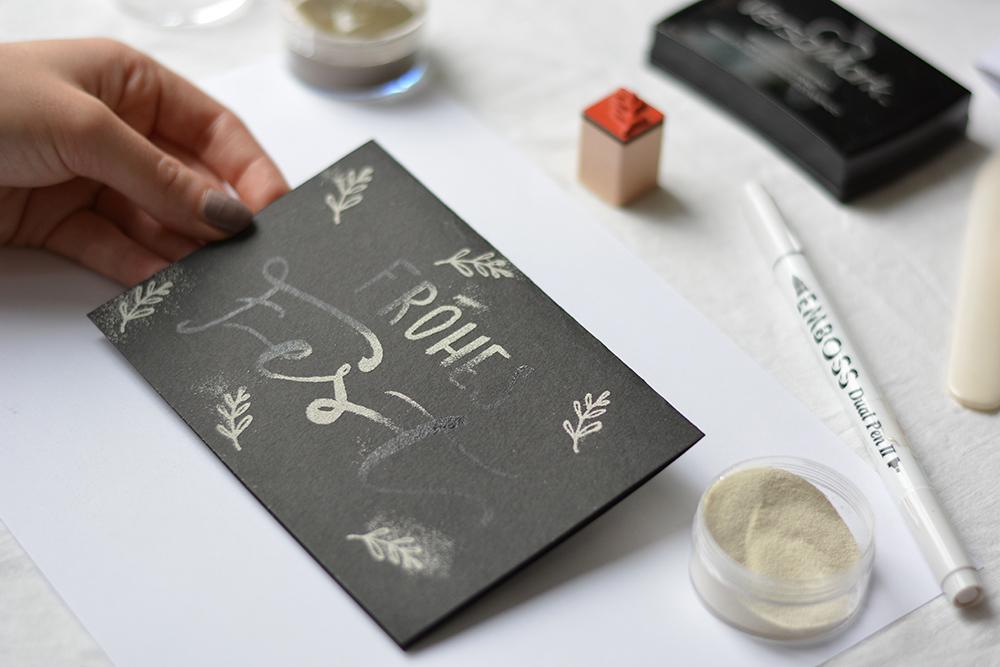 Weihnachtskarten mit Embossing | we love handmade