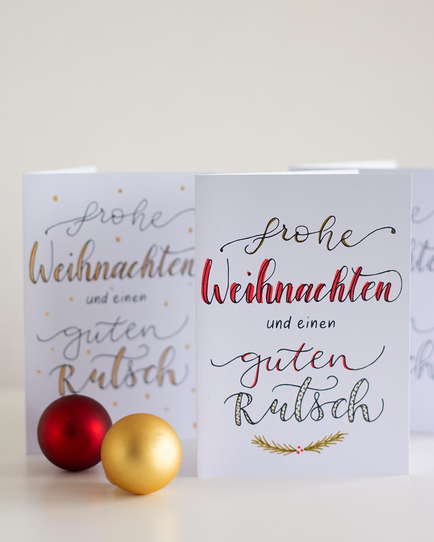 Weihnachtskarten selber machen | we love handmade
