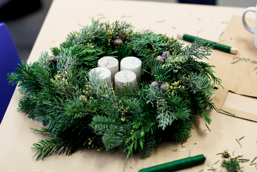 Weihnachtskranz-Workshop Wien | we love handmade