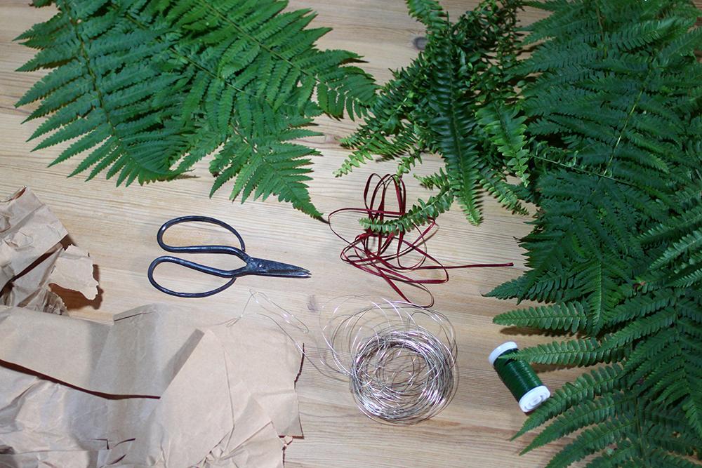 DIY: Türkranz aus Farn - dieses Material braucht ihr | we love handmade