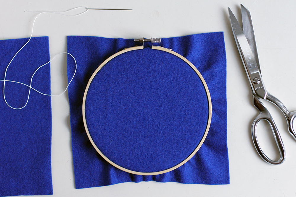 DIY: Stickbild mit Filz - den Filz einspannen   we love handmade