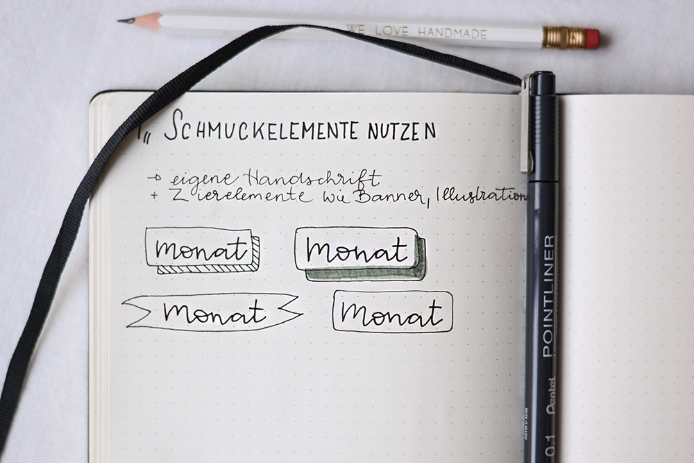 Bullet Journal: Schmuckelemente | we love handmade