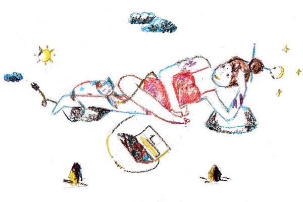 Illustration: Hedonismus von Elvira Stein