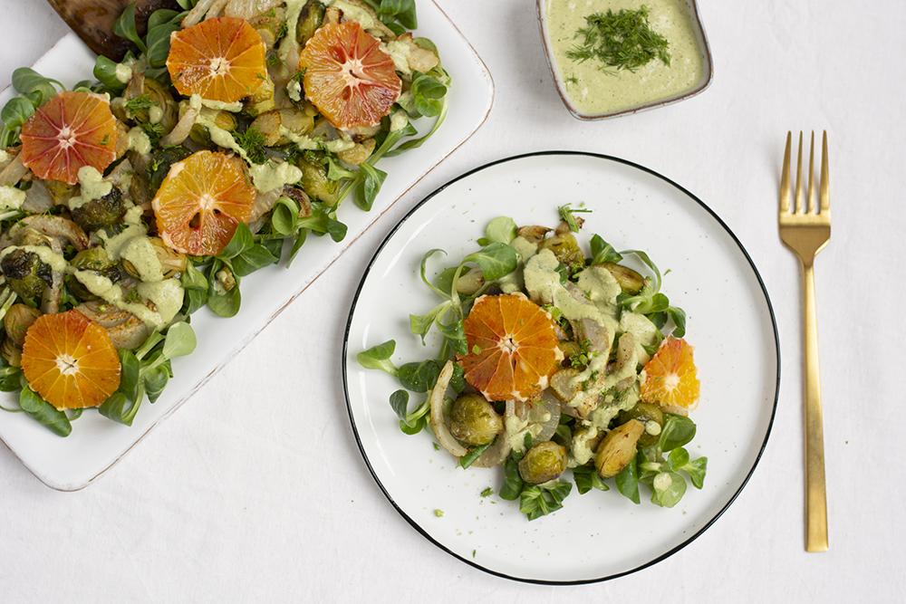 Wintersalat mit Kohlsprossen und Fenchel | we love handmade