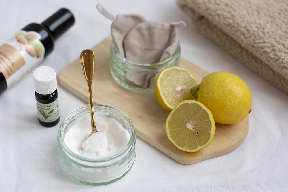 Zucker-Zitronen-Peeling: Zutaten | we love handmade