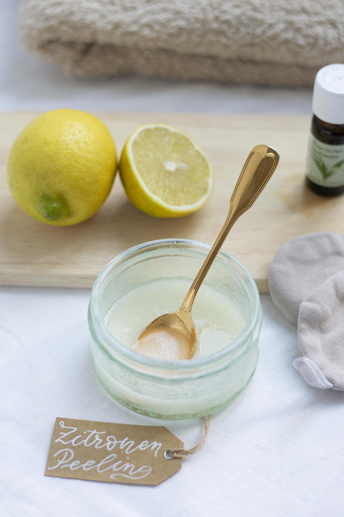 Zucker-Zitronen-Peeling selbermachen | we love handmade