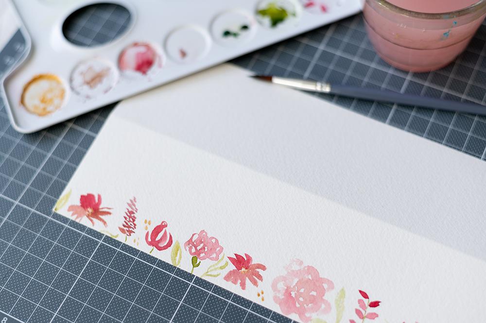 Aquarell-Tischkarten mit Blumenmuster | we love handmade