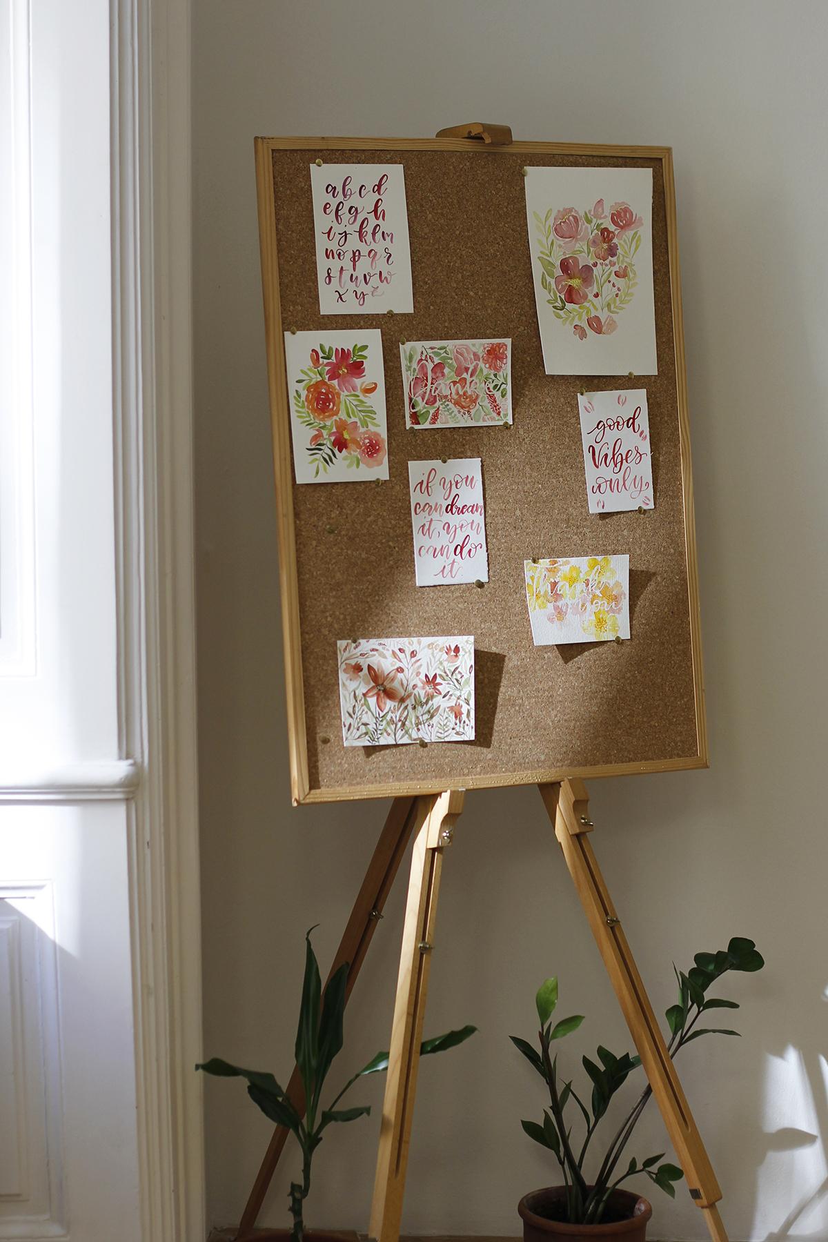 Brush Lettering und Aquarellmalerei Workshop | we love handmade