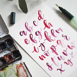 Brush Lettering & Aquarellmalerei | we love handmade