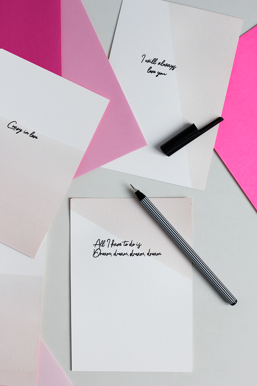 DIY: Valentinskarten selber machen | we love handmade