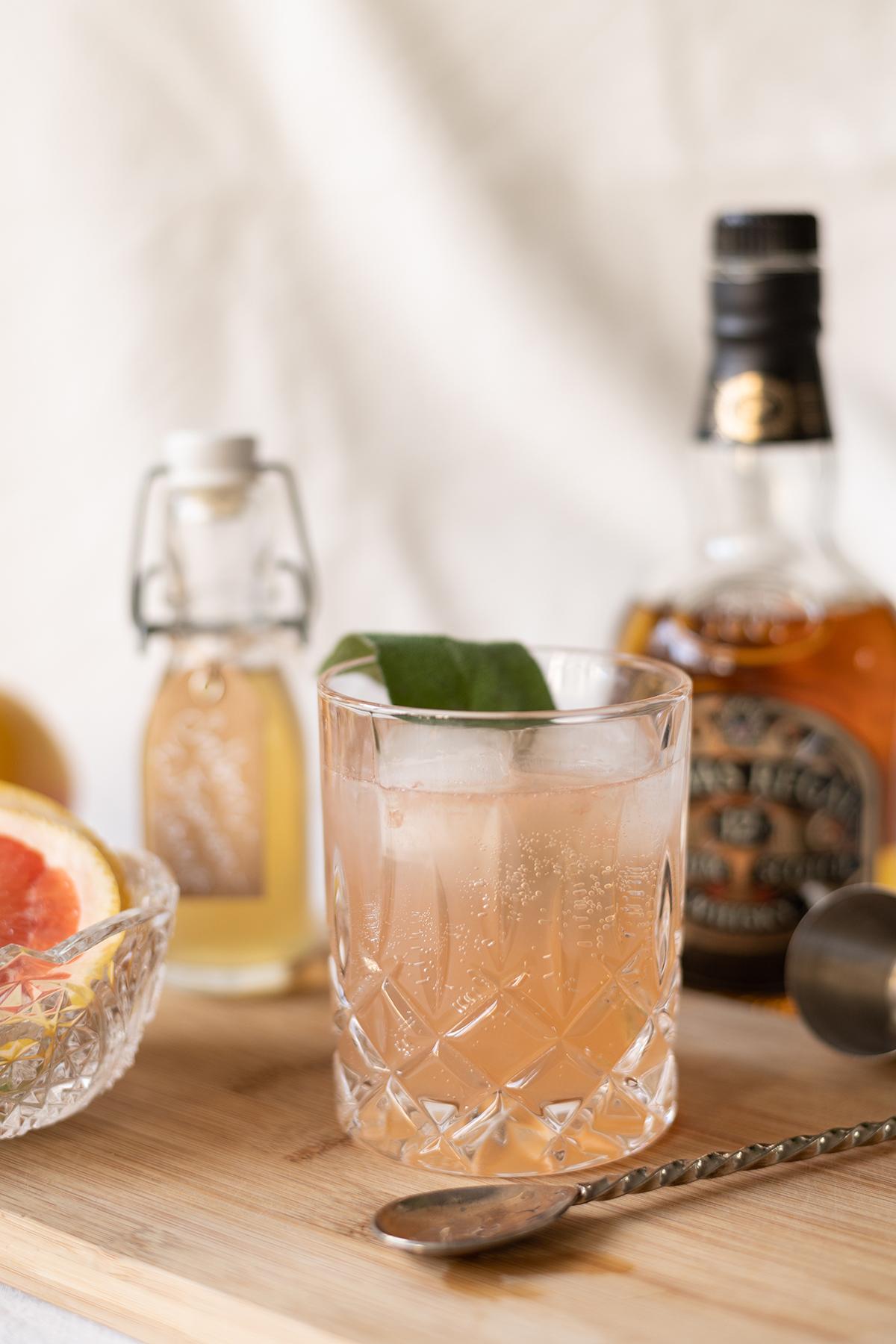 Drink: Grapefruit Whiskey Sour | we love handmade