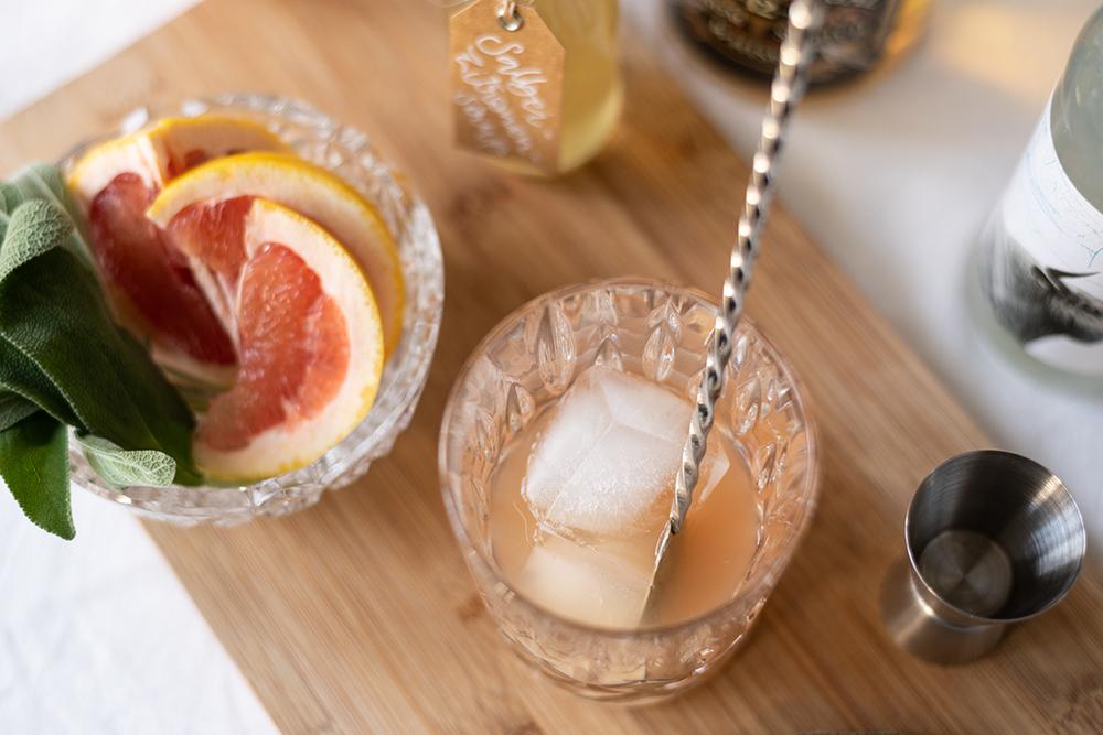 Grapefruit Whiskey Sour Cocktail | we love handmade