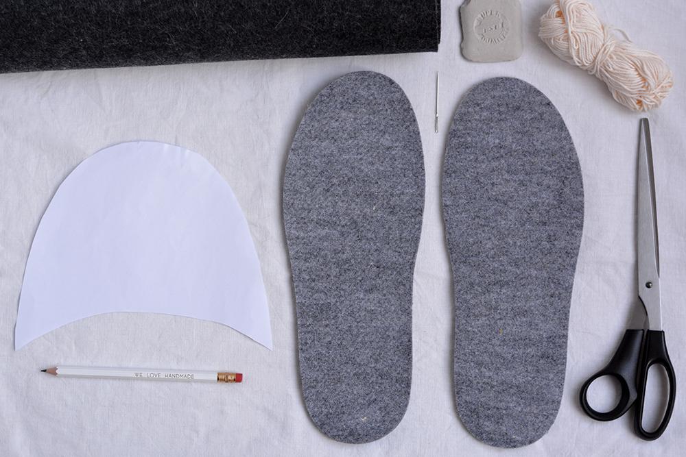 Hausschuhe: DIY-Material   we love handmade