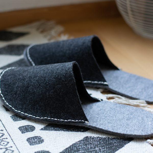 Hausschuhe nähen aus Filz | we love handmade