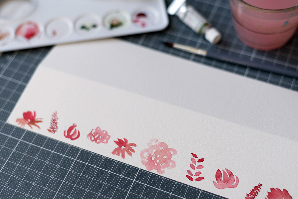 Loose Watercolor Flowers | we love handmade