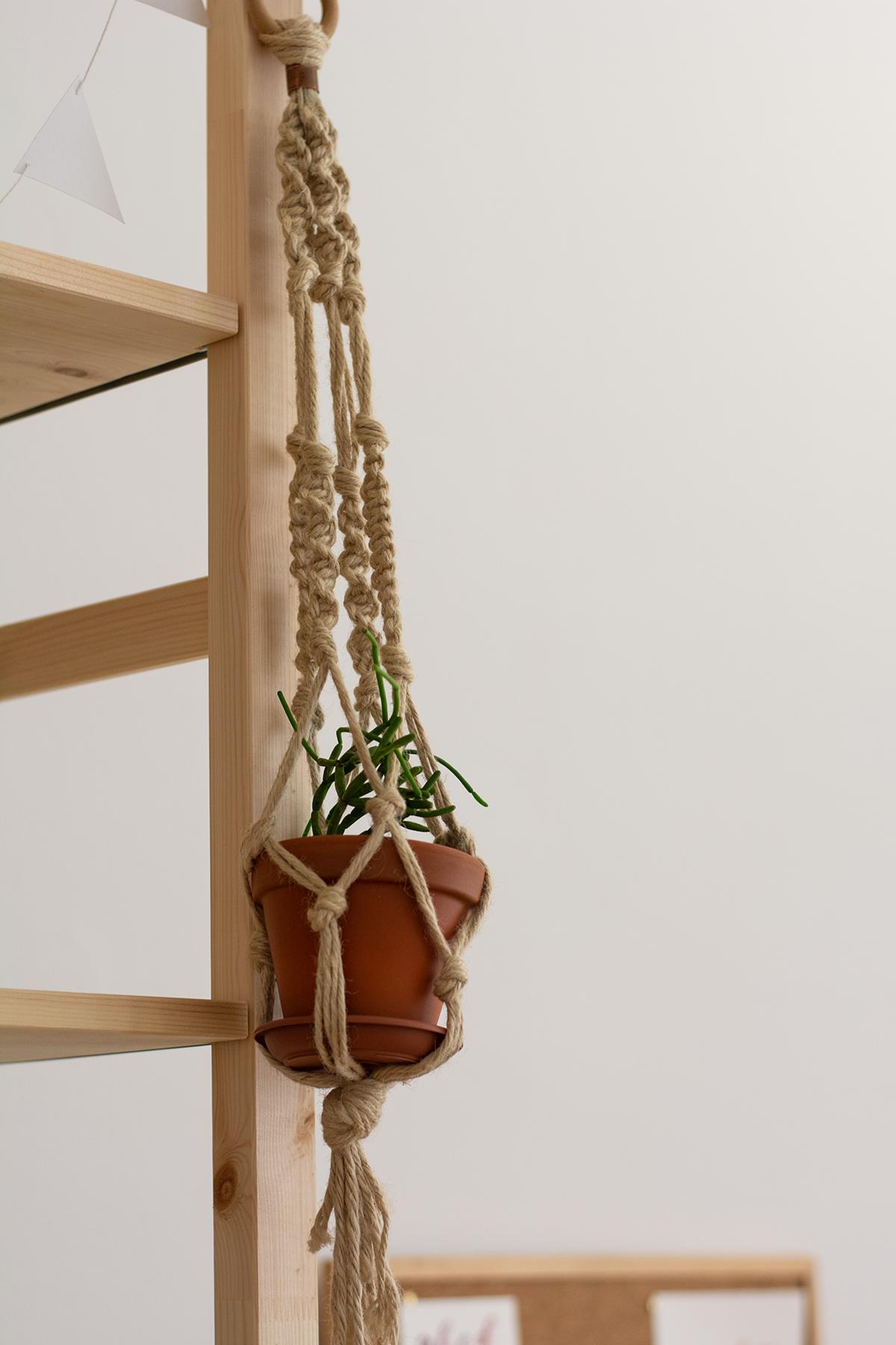Makramee-Blumenampel selbermachen | we love handmade