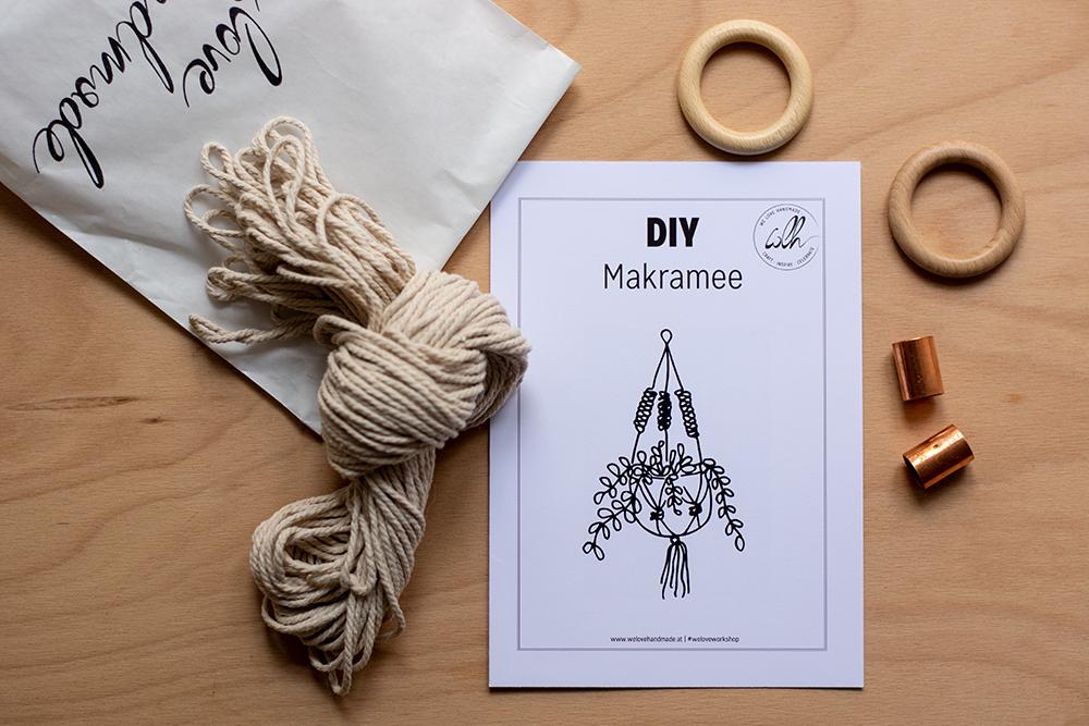 Makramee DIY-Kit für Blumenampel | we love handmade