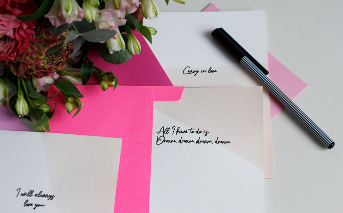 DIY: Valentinskarten mit Liedtitel | we love handmade