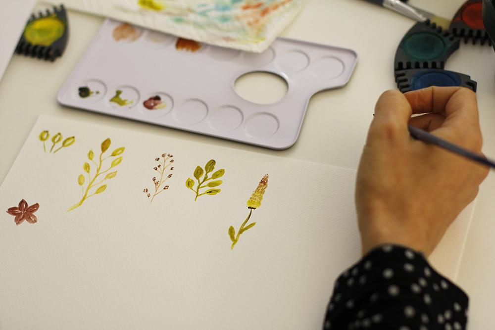 Watercolor Kurs Wien | we love handmade