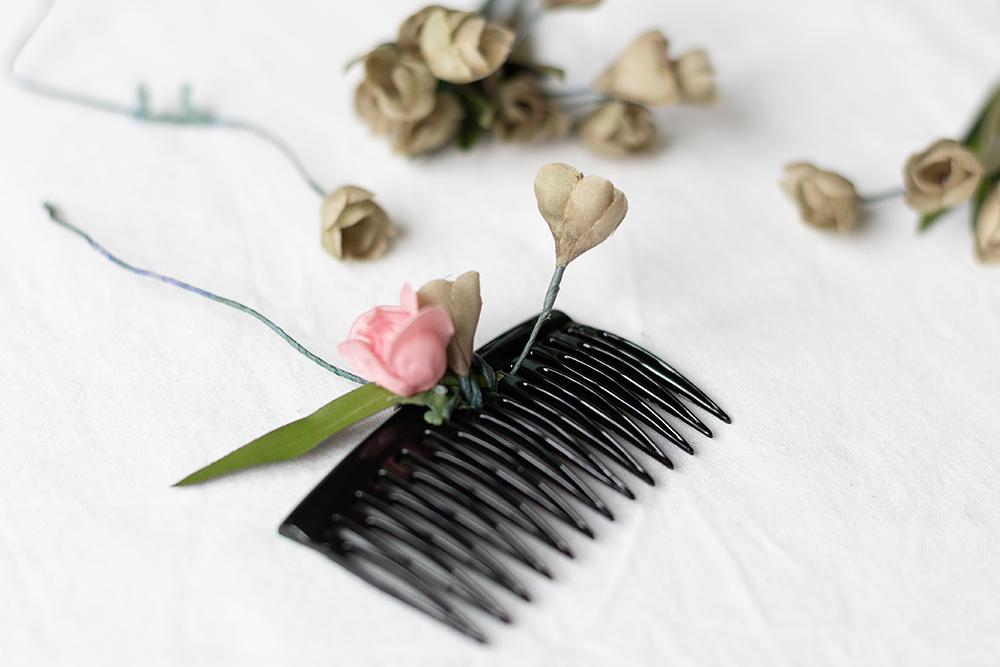 Blumen-Haarspange selbermachen | we love handmade