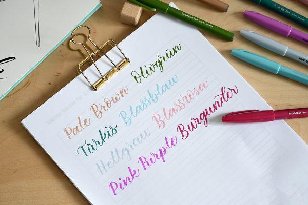 Brush Pen: Pentel Touch Farben | we love handmade