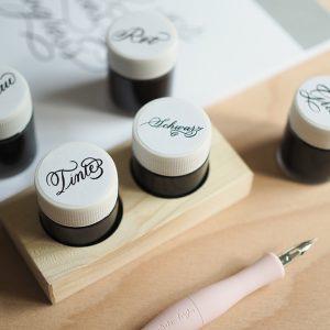 Kalligraphie: Tintenhalter mit Schreibtinten |we love handmade