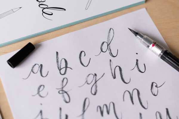 Pentel Color Brush Schriftbeispiel | we love handmade