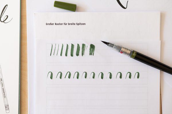 Pentel Colour Brush: Olive Green | we love handmade